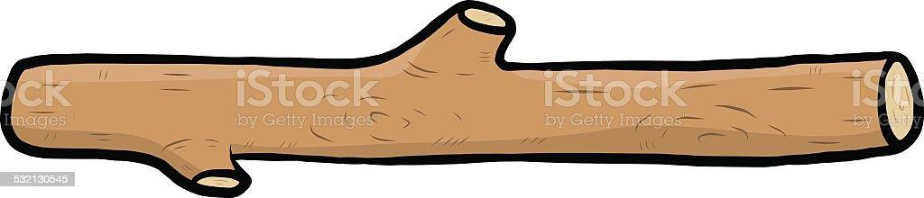 small wooden log vector art illustration