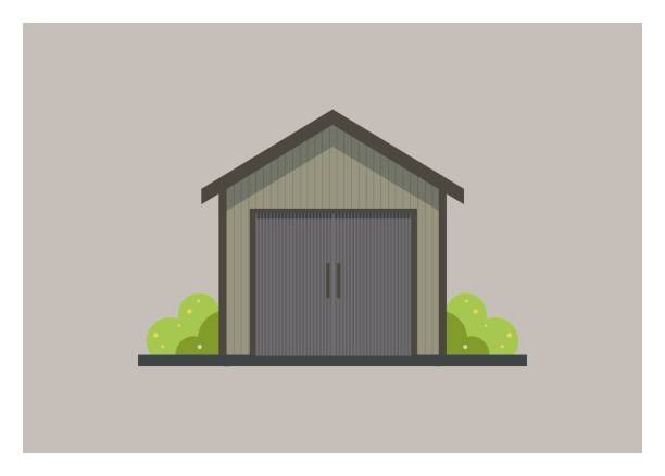 small wooden shed building simple illustration simple illustration of a small wooden shed building shed stock illustrations