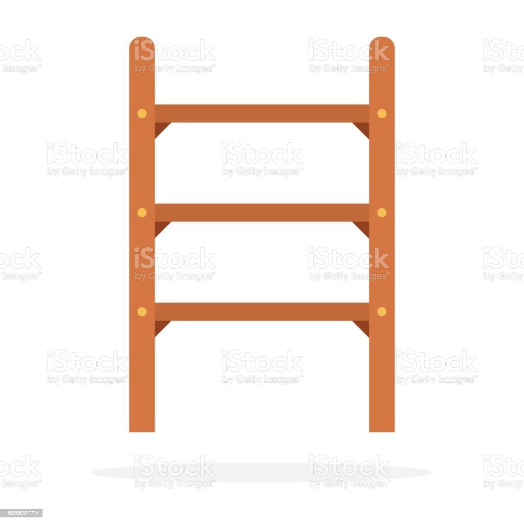 Vecteur De Petit Escalier En Bois Plat Isolé Vecteur De Petit Escalier En  Bois Plat Isolé