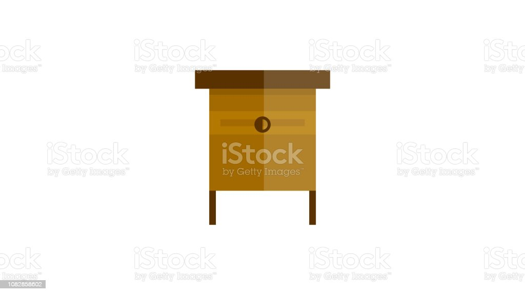 Small Wooden Table Icon Stock Illustration Download Image Now