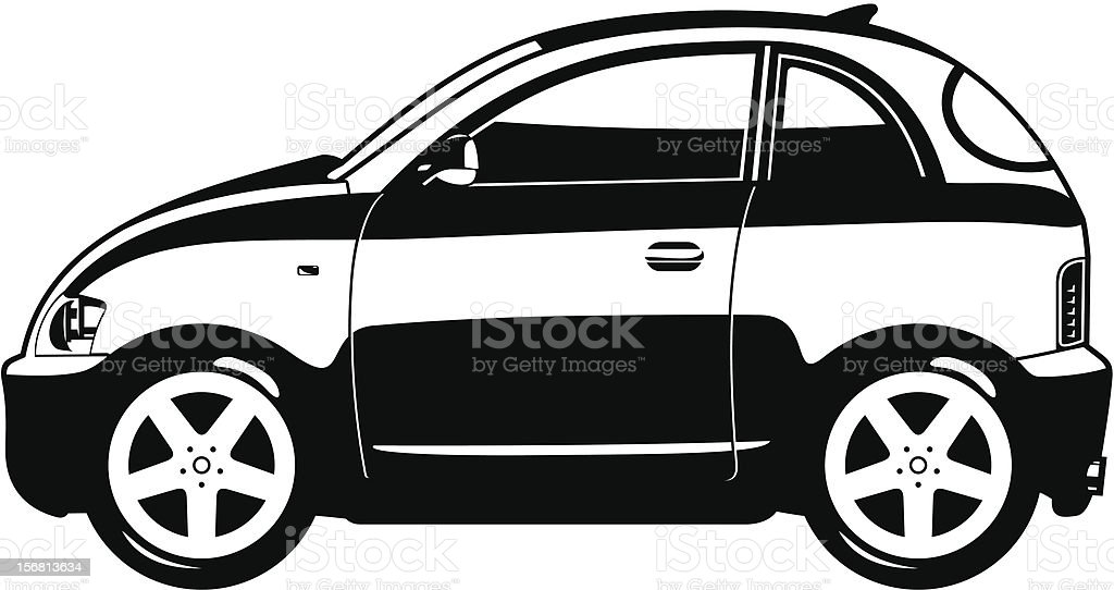 smallest car royalty-free smallest car stock vector art & more images of black and white