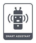 smart assistant icon vector on white background, smart assistant trendy filled icons from General collection