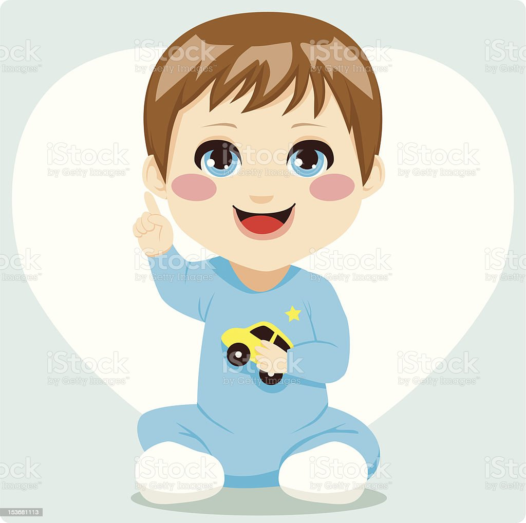Smart Baby Boy royalty-free smart baby boy stock vector art & more images of answering