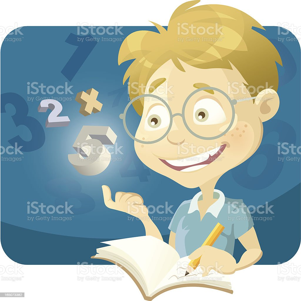 Smart Boy vector art illustration
