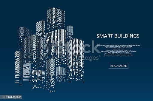 istock Smart building concept design 1220304602