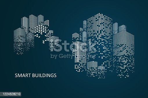 istock Smart building concept design 1224528210