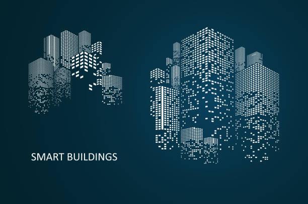inteligentna konstrukcja koncepcyjne budynku - inteligencja stock illustrations