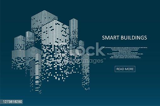 istock Smart building concept design 1273818250