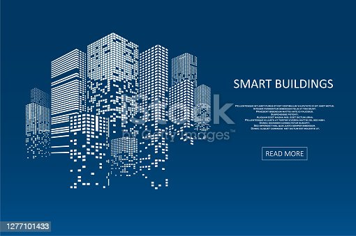 istock Smart building concept design 1277101433