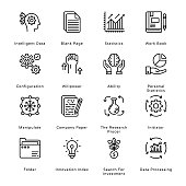 istock Smart Business Outline Icons - Stroked, Vectors 1284520193