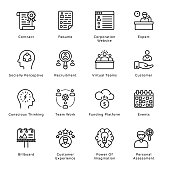 Smart Business Outline Icons - Stroked, Vectors
