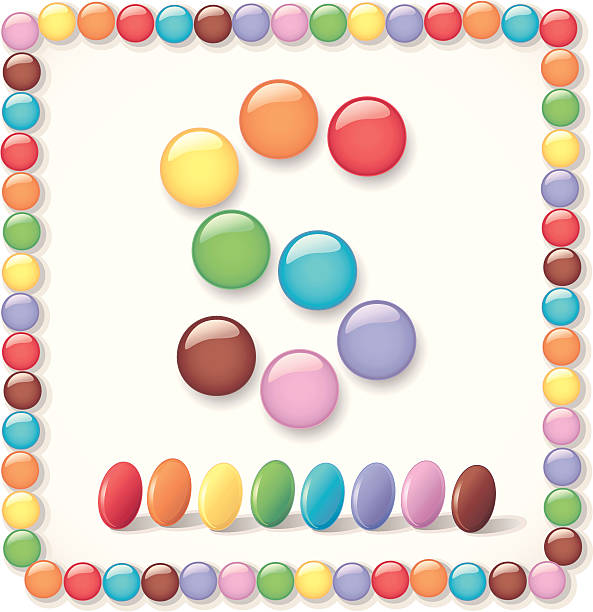 """ smart "" candy - gummibonbon stock-grafiken, -clipart, -cartoons und -symbole"