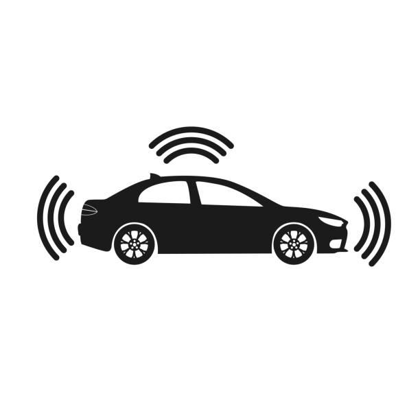 スマート車のアイコン - 自動運転車点のイラスト素材/クリップアート素材/マンガ素材/アイコン素材