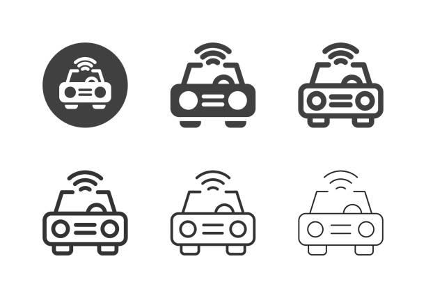 Smart Car Icons - Multi Series vector art illustration