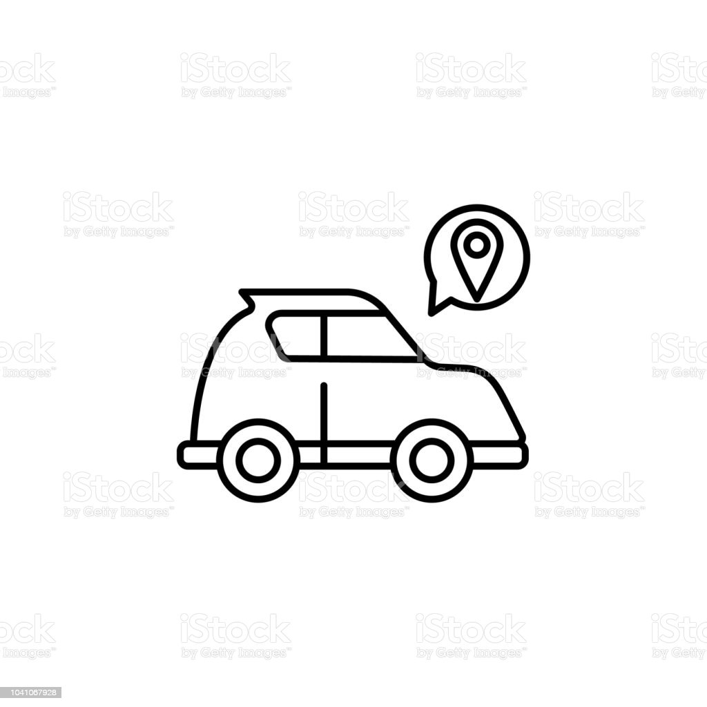 Smart car location icon. Element of artificial intelligence icon for...