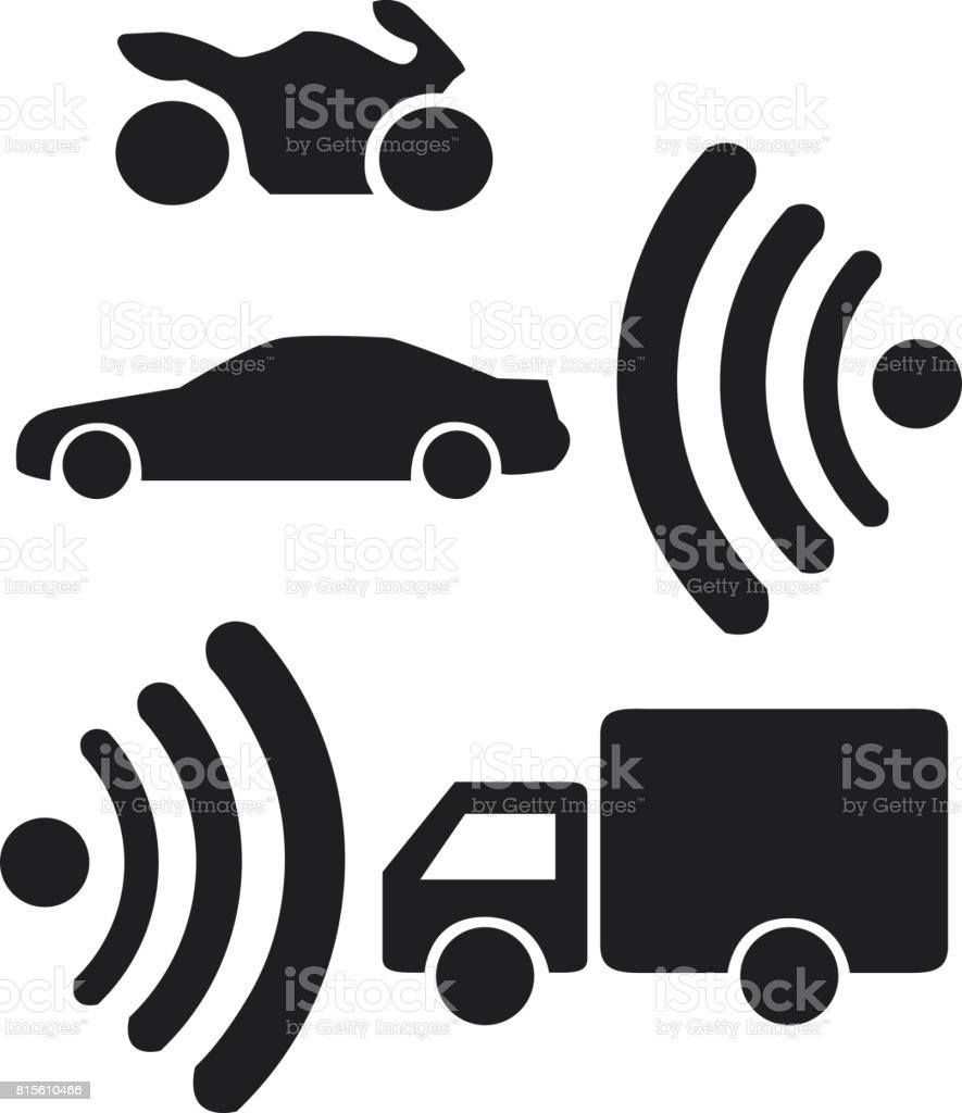 Smart Car Wifi Stock Vector Art More Images Of Antenna Aerial