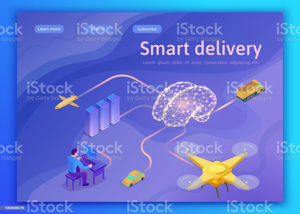 Smart Cargo Delivery System Concept Artificial Intelligence