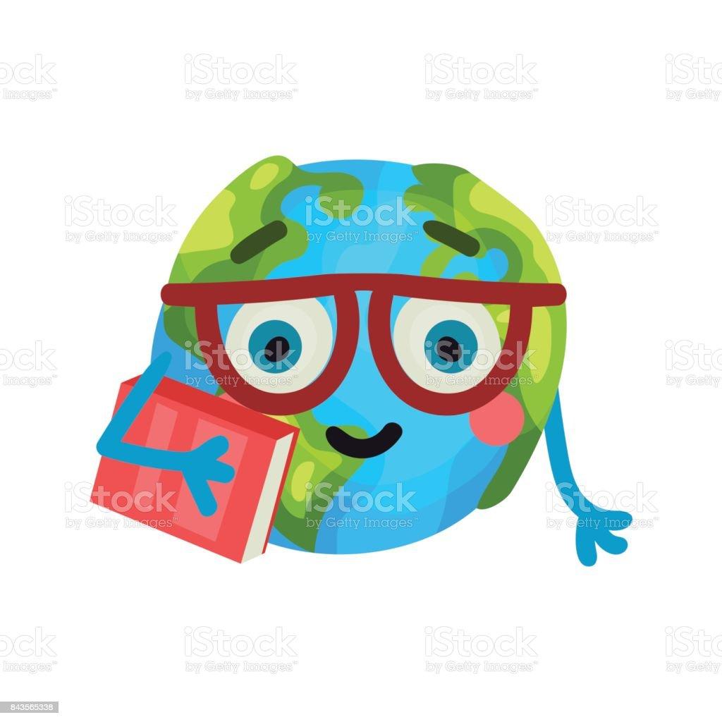 Dessin Anime Intelligent Drole Terre Planete Emoji Lunettes