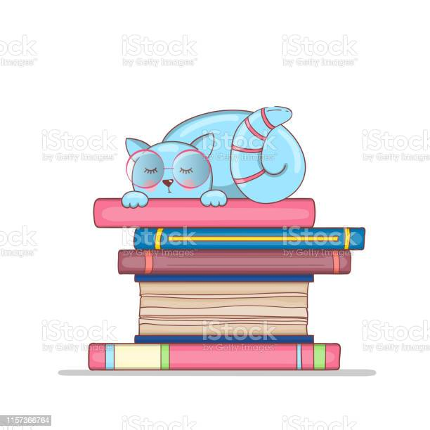 Smart cat with glasses on a stack of books the kitten is learning vector id1157366764?b=1&k=6&m=1157366764&s=612x612&h=5pxw32iaeo345fujvb8ajdyj9nwxxqz1tjca5mfuz1a=