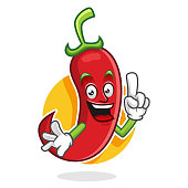 chili pepper character design or chili pepper mascot, perfect for logo, web and print illustration