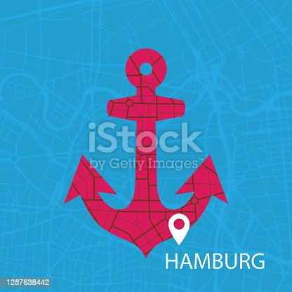 istock HAMBURG, Smart City, Anker, Vector 1287638442