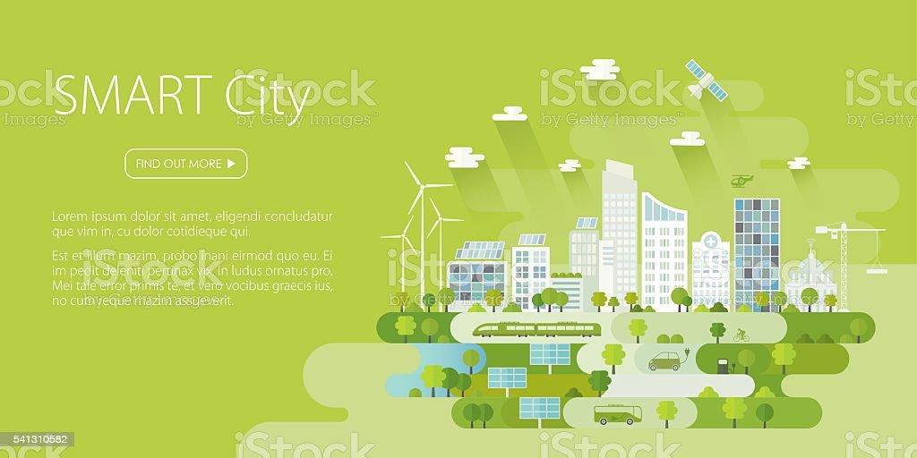 Smart City Banner – Vektorgrafik