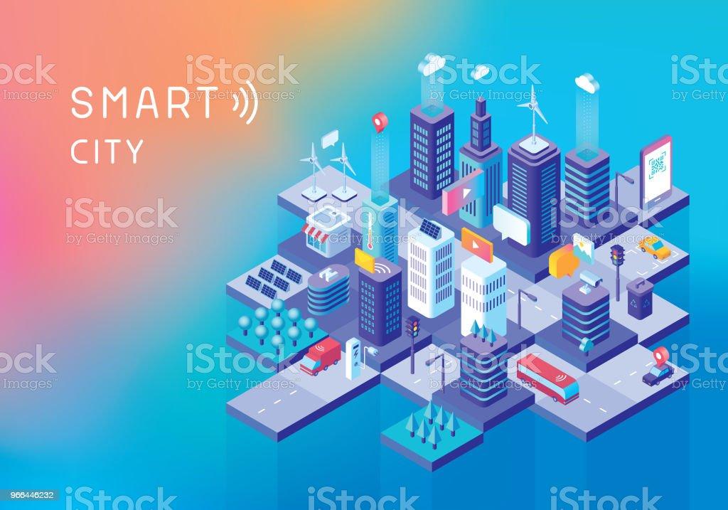 Smart city concept - Royalty-free Ao Ar Livre arte vetorial