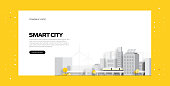 Smart City Concept Vector Illustration for Website Banner, Advertisement and Marketing Material, Online Advertising, Business Presentation etc.