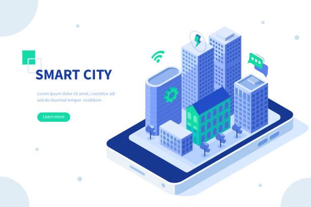 ilustrações de stock, clip art, desenhos animados e ícones de smart city - smart city