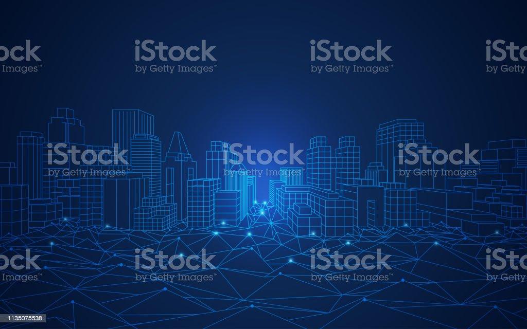 smart city - Royalty-free Abstrato arte vetorial