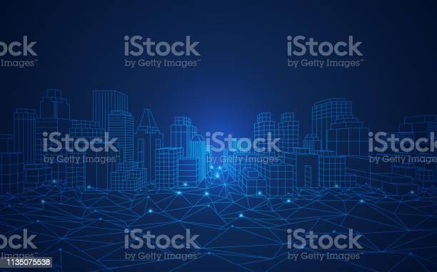 Smart City - Arte vetorial de stock e mais imagens de Abstrato