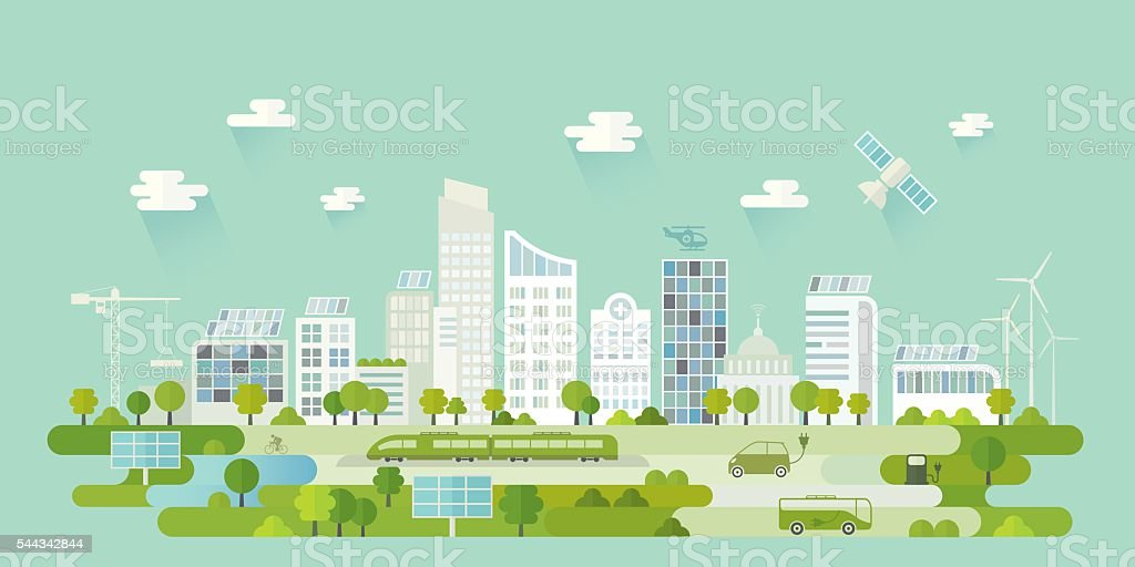 Smart City vector art illustration