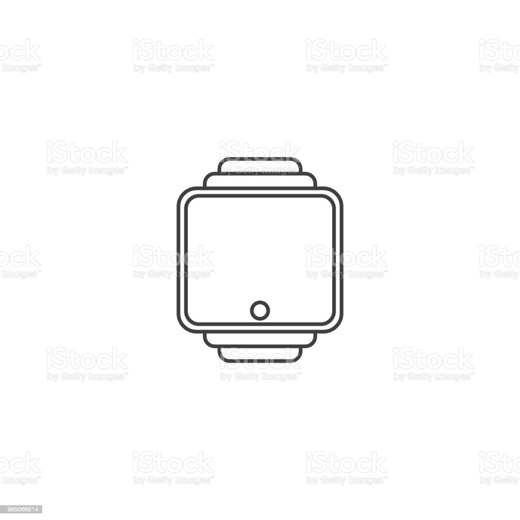 Smart clock icon. Contour. Vector on white background royalty-free smart clock icon contour vector on white background stock vector art & more images of advertisement