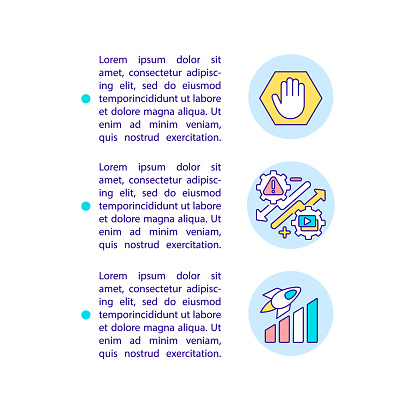 Smart content marketing tips concept line icons with text