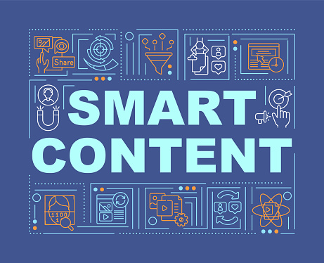 Smart content word concepts banner