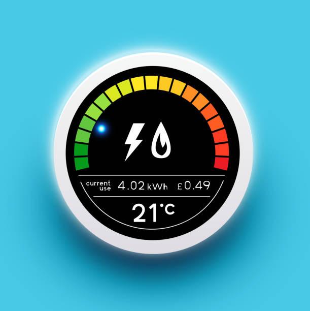 Smart Energy Wandmesser – Vektorgrafik