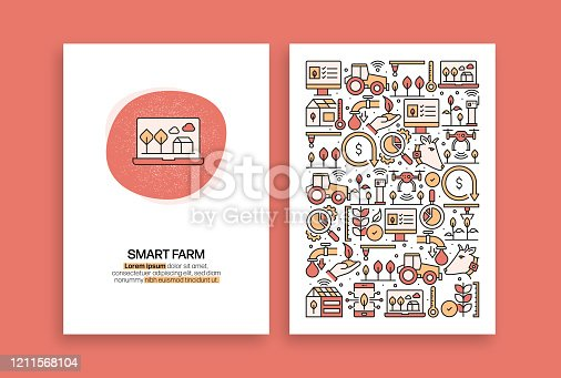 istock Smart Farm Related Design. Modern Vector Templates for Brochure, Cover, Flyer and Annual Report. 1211568104