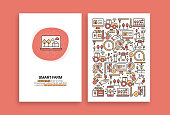 Smart Farm Related Design. Modern Vector Templates for Brochure, Cover, Flyer and Annual Report.