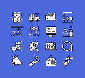 Smart Farm Related Icons Vector Collection. Modern Style Symbol Vector Illustration