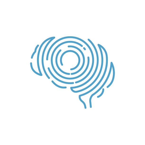 Smart Fingerprint Scanner Brain Shape Abstract Symbol Smart Fingerprint Scanner Brain Shape Abstract Symbol well dressed stock illustrations