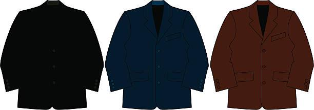 stockillustraties, clipart, cartoons en iconen met smart formal suit jacket - men blazer