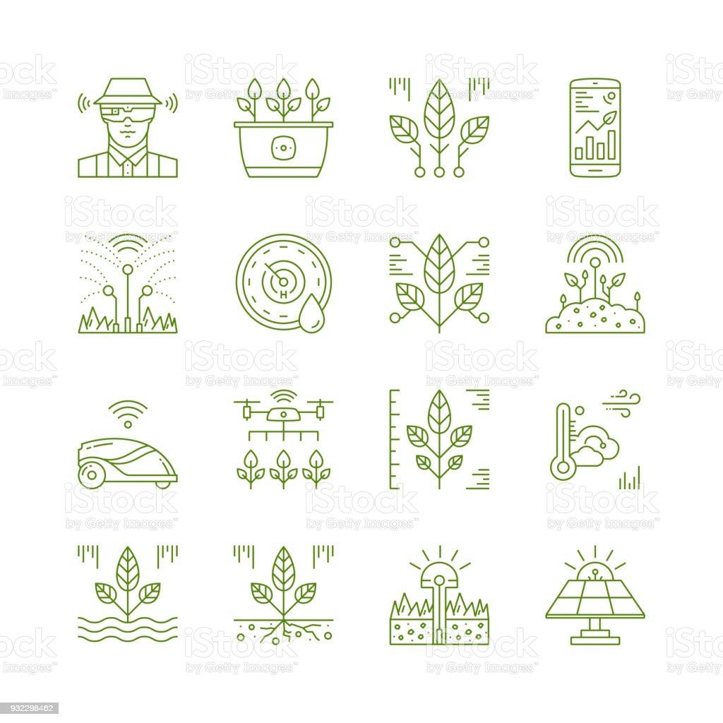 Smart Garden Tech Icons Royalty Free Smart Garden Tech Icons Stock Vector  Art U0026amp;