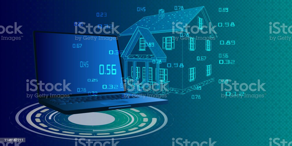 Smart home computing and system control with laptop. Security control...