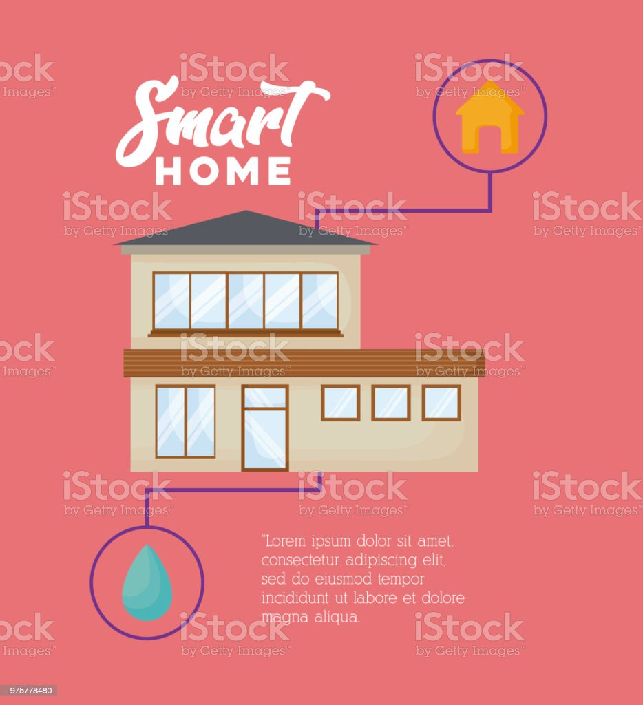 Smart home-design - Lizenzfrei Automatisiert Vektorgrafik