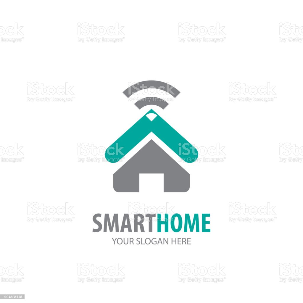Smart Home Icon For Business Company Simple Smart Home Icontype Idea ...