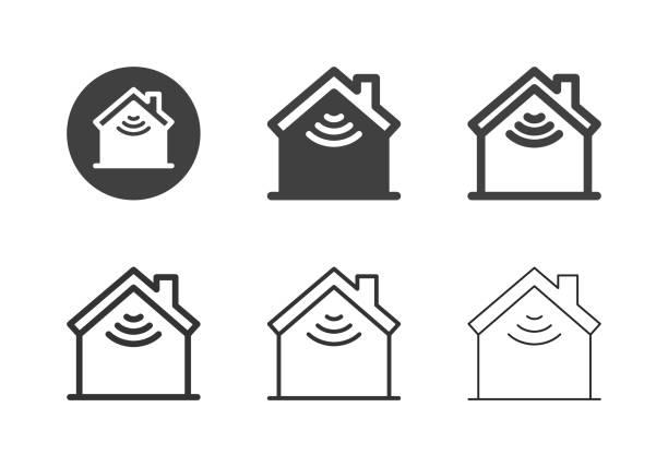 Smart Home Icons - Multi Series vector art illustration