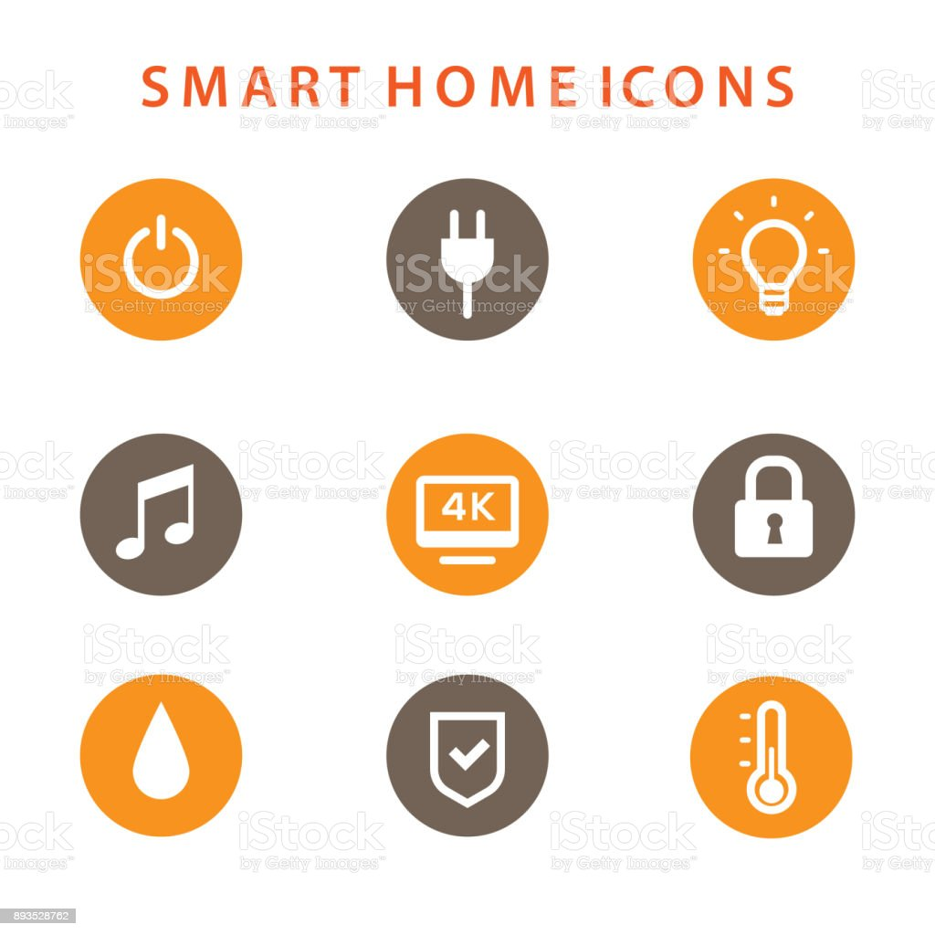 Smart Home Icons Set Automation Concept Stock Vector Art & More