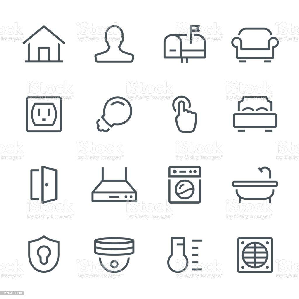 Smart Home Symbole – Vektorgrafik