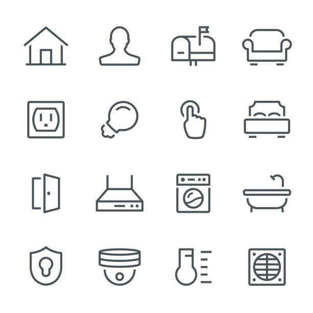 smart home symbole - funktionssofa stock-grafiken, -clipart, -cartoons und -symbole