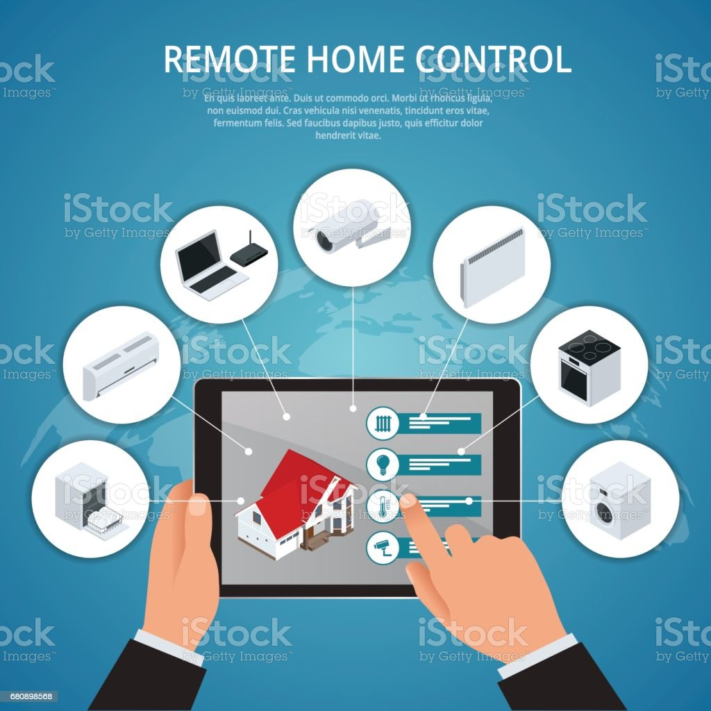 Smart House And Internet Of Things Concept stock vector art